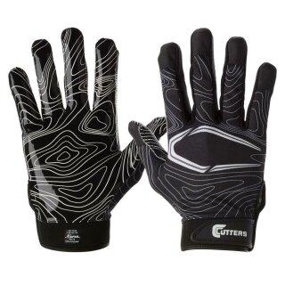S150 Gameday Receiver Topo Glove Adult, Black von Cutters