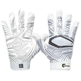 S150 Gameday Receiver Topo Glove Adult, Weiß von Cutters